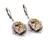 Steampunk Earrings - GoRGEOUS Vintage Clockwork Lever Back Dangle Design - All Steampunk Jewelry PROMPTLY SHIPPED
