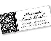 tReNdY PERSONALIZED Address Labels Adhesive Sticker Sheet - Classic Black