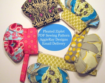 INSTANT DOWNLOAD The Pleated Ziplet PDF Sewing Pattern Create and Sell Product