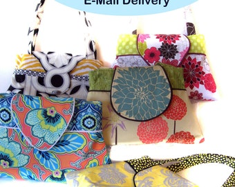 INSTANT DOWNLOAD PDF Sewing Pattern Handbag Purse: Silhouette Handbag Purse Create and Sell Product