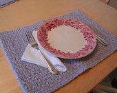 Handwoven Grey Cotton Placemats-set of 4