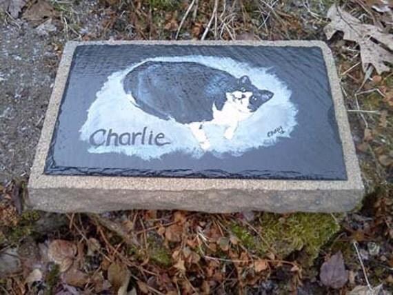 Pet Memorial Garden Stoneslate Pet Grave Marker Outdoor Pet