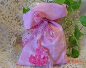 Lingerie Bag, shoe bag, travel bag-Fabric Gift Bag--Med. size--Wrap it in an instant--very romantic, jewelry bag, candy bag