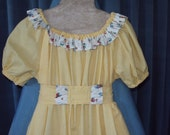 Prairie  Dress  Bonnet  civil war victorian OOAK size child 6 birthday  dress up Plan a Prairie Party