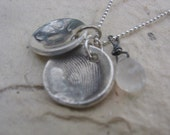 Shabby Chic Designs HAND STAMPED PMC Fingerprint Necklace