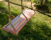 Double Hand Painted Tree Swing