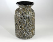 Crackle Glass Vase - Hand Blown -