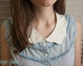 Scalloped Detachable Collar : White Fancy