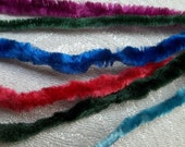 Vintage Millinery Chenille on Fine Wire... Rare 1920s-30s...6 yds  Assorted Jewel Tones....NOS....Lot 6C...Crafts