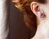 Circle Stud Earrings, Black Silver Earrings, Round Earrings, Minimalist Earring, Hammered Earrings, Oxidized Silver Earrings, Circle Earring