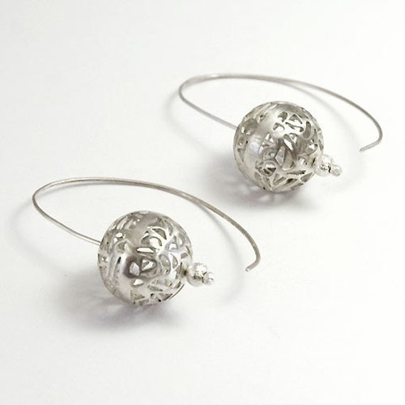 Sterling Small World Earrings - Handmade Sterling Silver Jewelry