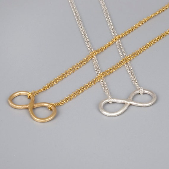 Sterling Silver Infinity Necklace, Layered Necklace Silver, Layering Necklace, Yoga Necklace, Delicate Necklace, Dainty Infinity Necklace