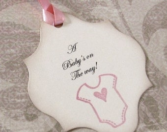 Baby Wish Tags -  Hand stamped - Onesie