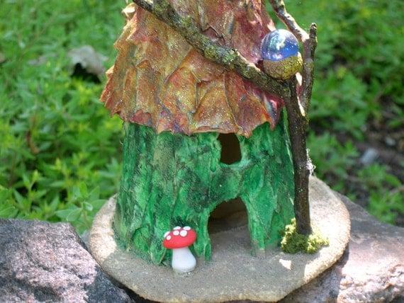 Fairies Fairy House Garden Decor indoor outdoor OOAK hand made