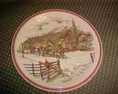 Vintage Bits of Old England No 5 Plate Vernon Kilns