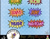 Custom Listing for Mitz0315 Super Hero City Skyline digital graphic clip art