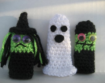 Halloween Finger Puppets Crochet Pattern