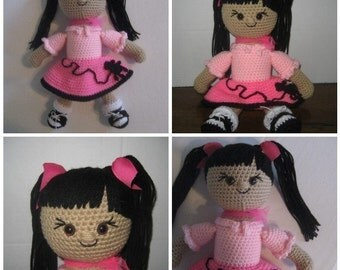 Sock Hop Sandy 50's Amigurumi Doll Crochet Pattern