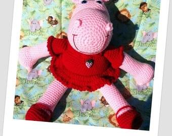 Crochet Pattern Amigurumi Hippo