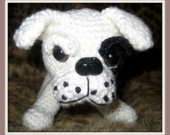 Crochet Pattern American Bulldog Amigurumi