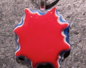 Fused glass pendant: Spangled Star