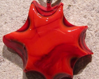 Fused glass pendant: BOOM BOOM WOW