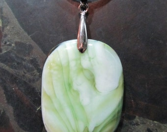Fused Glass Pendant: Double the Bliss