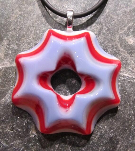 Fused glass pendant: Morning Glory