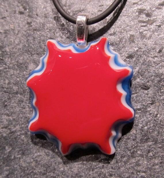 Fused glass pendant: Spangled Star