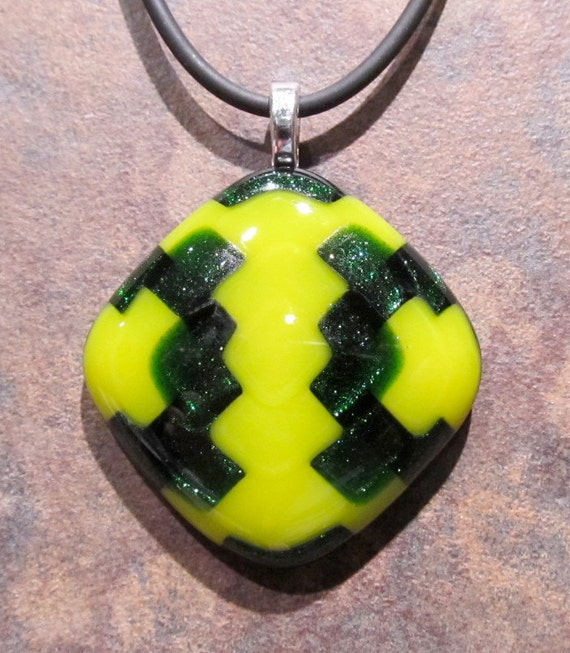 Fused glass pendant: Just Ducky