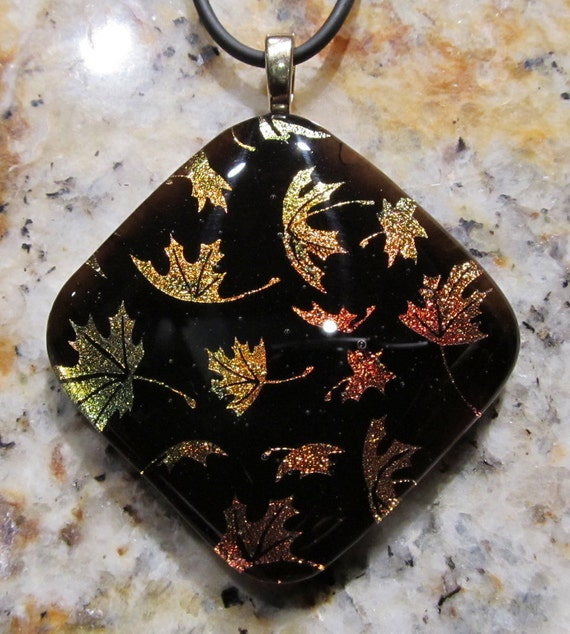 Fused Glass Pendant: Falling For You
