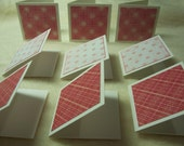 Mini Note Cards...9 Piece Set of Very Cute Sweetheart Mini Note Cards