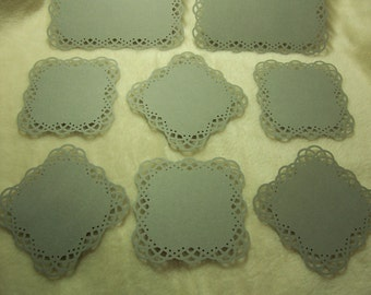 8 Piece Set of Very Charming Swirling Lace Border Scrapbook Photo Mats