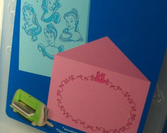 Brand New 2 Piece Set of A2 Disney Princesses Embossing Folders