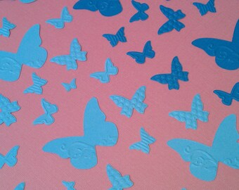 90 Piece Set of Very Pretty Wings Migration Embossed Paper Butterfly Scrapbook Embellishments