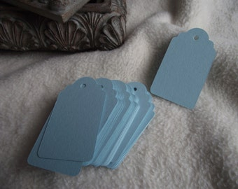 Scallop Hang Tags...50 Piece Set of Very Pretty Light Blue Scallop Scrapbook Hang Tags