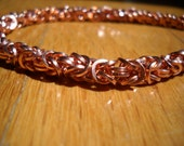 It's Hip To Be Square Anklet/Bracelet In Copper