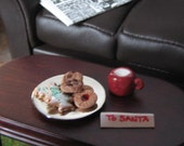 dollhouse miniature cookies and milk for Santa by Shari