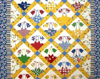 Bees Knees Quilt Pattern - Fun Vintage Charm PDF