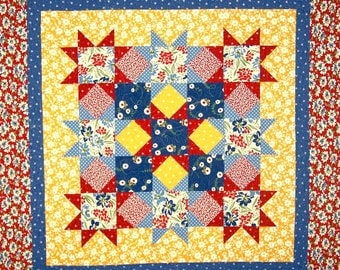 Magic Stars Quilt Pattern - SO Fast and Easy PDF