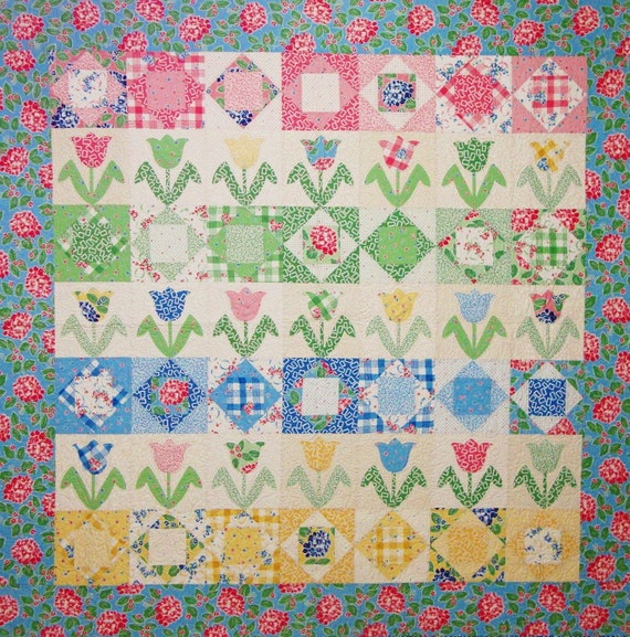 Tulip Garden Quilt Pattern A Touch Of Springtime Pdf