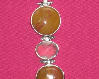 Silver .925 Imperial Jasper Quartz Pendant