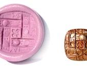 Vintage Button Mold Style O