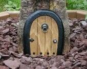 Gnome doors, Fairy Door, Faerie Door, Elf Door,  5 inch rounded with miniature lion knocker.