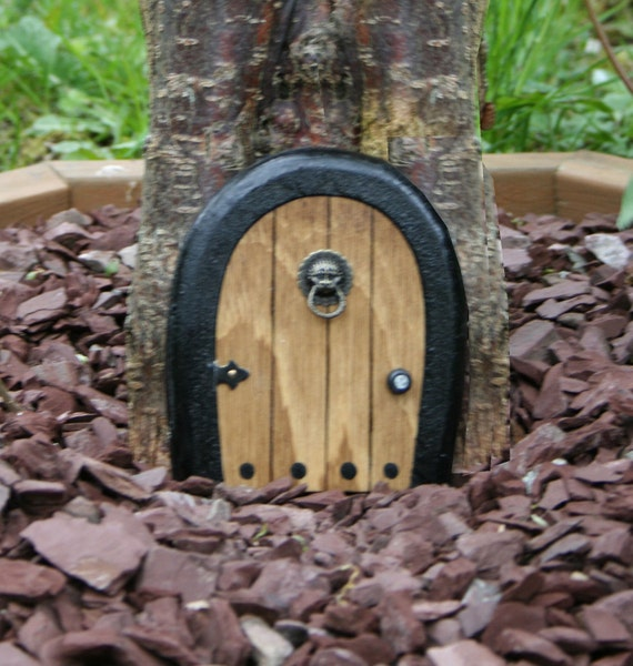 Gnome doors fairy door faerie door elf door 5 inch for Elf fairy doors