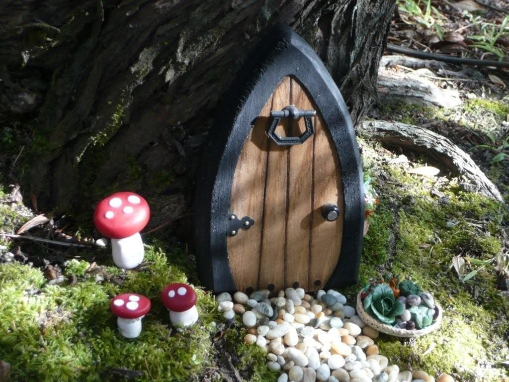 Faerie doors fairy doors gnome doors elf doors 5 5 inch for Fairy house doors