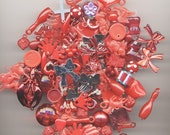 35 Piece Red Acrylic Charm Mixed Lot
