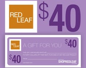 Red Leaf Bath and Body Gift Certificate For Best Friend, Sister, Brother, Coworker