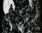 Gothic Ganesha 11 x 17 inch full color dark fantasy visionary surrealism art print by Jesse Lindsay, signed, dated & ready to frame!