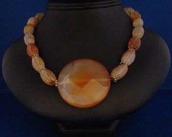 Peach Carnelian Beads